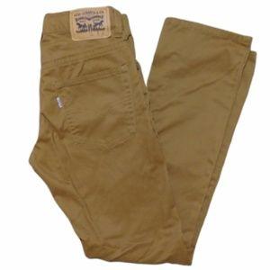 Levi's 511 Slim Straight Leg Skinny Pant Camel Tan